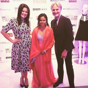 Me, Prisila Cisneros and Say Yes To The Dress's Monte Durham. She was straight up Peaches 'n' Cream Barbie, y'all. A dream come true!
