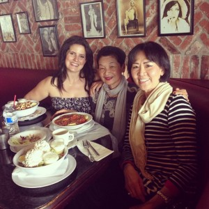 With Ann (center) and her friend, Sunny