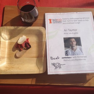 Alma's Chef Ari Taymor's Beef Tartare with Fermented Walnuts and Blackberries