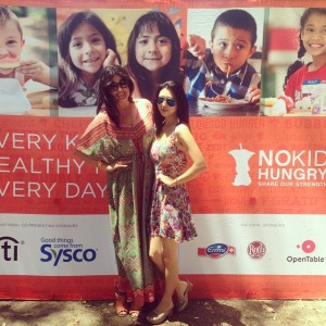 Linds & I at Taste Of The Nation LA, benefitting my beloved No Kid Hungry