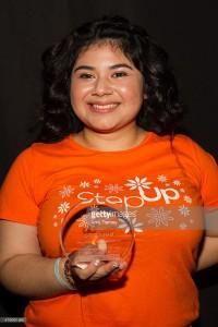 Step Up Honoree, senior Maria Soto. This girl is everything we wish we were at that age!