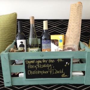 A customizable chalkboard makes the gift extra personalized!