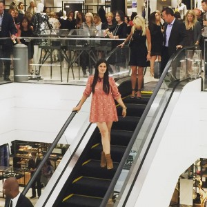 Oh, just me on the escalator of life...